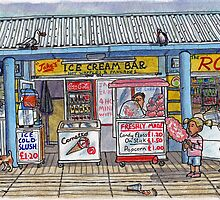 ice cream shop and candy floss by Tim Wells