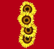 Iphone Case Sunflowers - Racy Red by Mark Podger