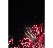 Fireworks Light Trails 10 Photographic Print