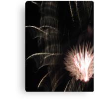 Fireworks Light Trails 11 Canvas Print