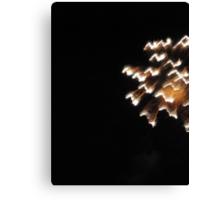 Fireworks Light Trails 12 Canvas Print