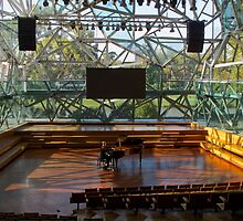Piano Tuner, Fed Square by Stephen  Shelley