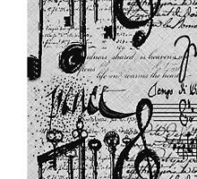 Music Notes Iphone Cover by Elaine  Manley