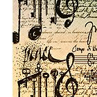 Musical Notes iphone #4 by Elaine  Manley