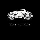 Live To Ride - iPad Case by Carol Knudsen