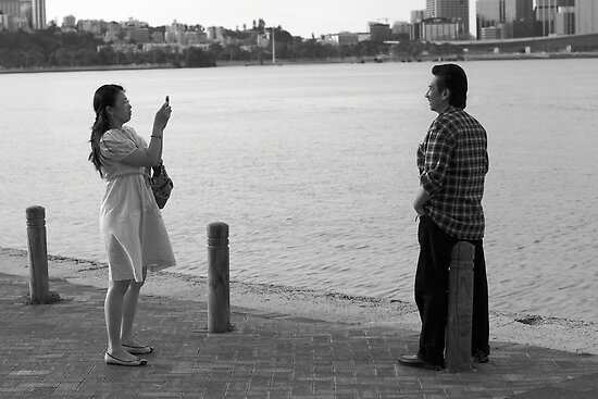 South Perth Couple 2 by Andrew  Makowiecki