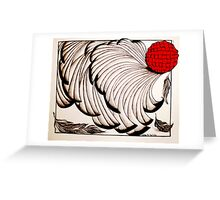 Moulting Greeting Card