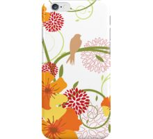 Yellow Hibiscus Swirls & Birds iPhone Case/Skin
