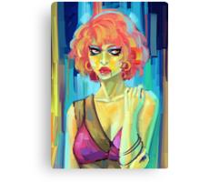 Green Woman Canvas Print