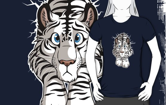STUCK - White Tiger by tanidareal