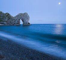 Moonlit bay by Ian Middleton