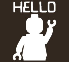 Minifig Hello, by Customize My Minifig by ChilleeW