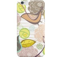 Pink Floral Potpourri Garden & Birds iPhone Case/Skin