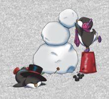 2 penguins, 1 snowman Kids Clothes