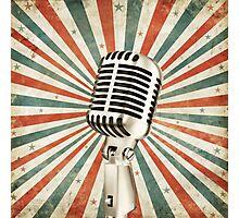 vintage microphone Photographic Print