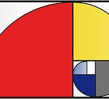 Mondrian vs Fibonacci by Psocy