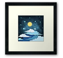 moon and cloud Framed Print