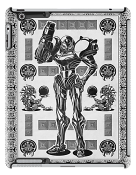 Metroid Samus Aran Geek Line Artly by barrettbiggers