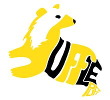 Typographic Hufflepuff by NoTHEnd