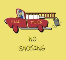 Fire Truck - No Smoking T-shirt by Dennis Melling