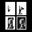 iPad Case - Vermeer Pencil Study 4 x 4 Black by Jan Szymczuk