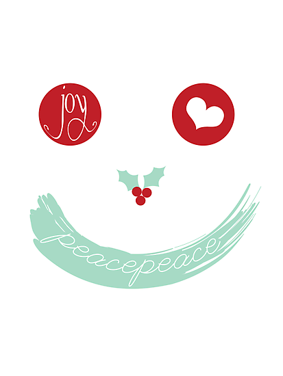 Christmas Peace Love Joy Holiday Smiley by fatfatin