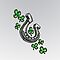 Horseshoe with Shamrocks by screamingtiki