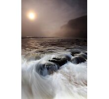 the sea, the mist, the stoneboat #2 Photographic Print