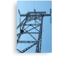 High Voltage Tower Canvas Print