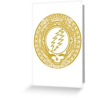 2012 Mayan Steal Your Face - GOLD Greeting Card