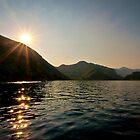 Sun sparkles on the Mediterranean sea, southern Turkey by David Isaacson