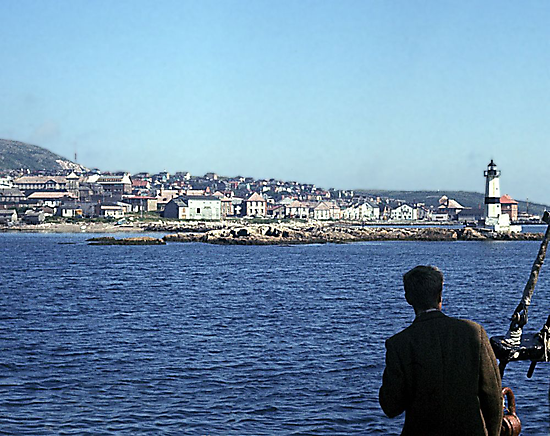 Entering Harbour at St. Pierre and Miquelon by George Cousins