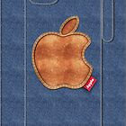 Denim iPhone case by satansbrand