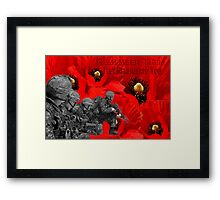 ✌☮† ❤ † REMEMBER THEM THEY REMEMBERED YOU † ❤ †✌☮  Framed Print