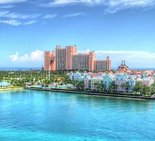 Atlantis and Harbour Village in Paradise Island, The Bahamas | iPad Case by 242Digital