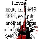 I Love Rock and Roll iPad Case by AmbientKreation