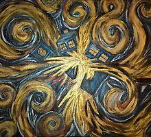 Exploding TARDIS by hawklawson