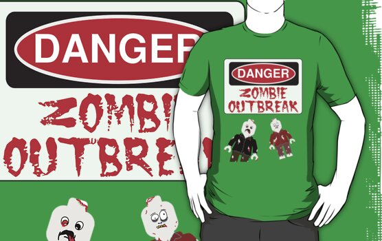 DANGER ZOMBIE OUTBREAK by Customize My Minifig by ChilleeW
