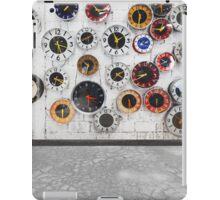 Retro clocks on the wall iPad Case/Skin