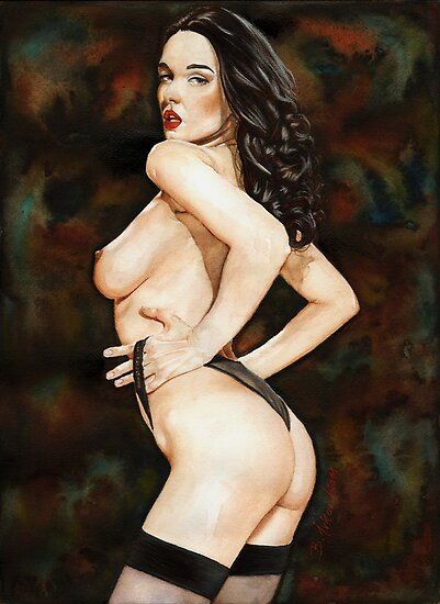 Black-haired Beauty - Night theme by Boris Ivkov
