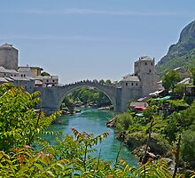 Old Bridge, Mostar, Bosnia Herzegovina by Margaret  Hyde
