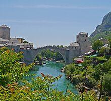 Old Bridge, Mostar, Bosnia Herzegovina by Margaret  Hyde