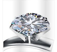brilliant cut diamond ring Poster
