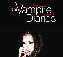 The Vampire Diaries @ Elena as Vampire Poster by Stewark