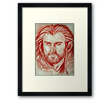 Richard Armitage, sanguine of Thorin Oakenshield  Framed Print