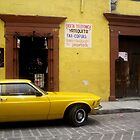Yellow car in Mexico by liptonmania