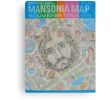 Mansonia Map Canvas Print