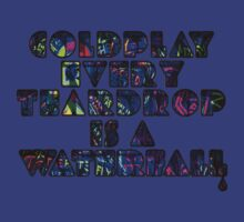 coldplay teardrop psychedelic graffiti dvd t-shirt by KeepItStupid
