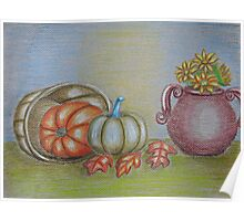 still life thanksgiving  Poster