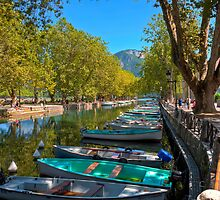 The Annecy Boat Park by Chris Vincent